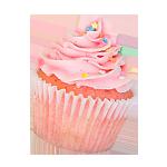 pink frosting cupcake